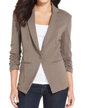 Style & Co. Ponte Knit Fitted Blazer