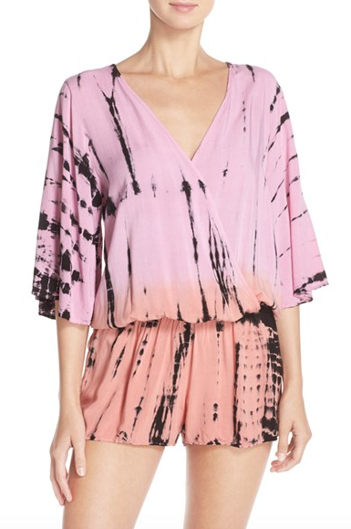Surf Gypsy Tie Dye Surplice Cover-Up Romper