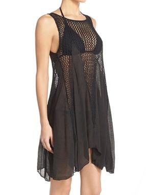 Elan Crochet Inset Tank Dress