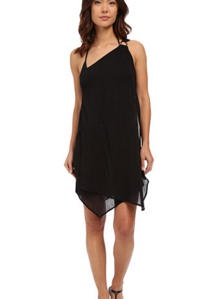 MICHAEL Michael Kors Solids One Shoulder Draped Cover-Up Dress