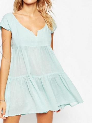 ASOS Tiered Smock Beach Dress