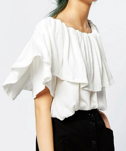 Monki ruffled top