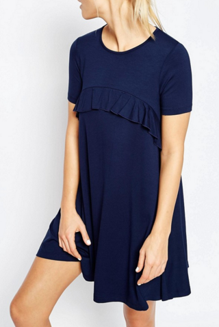 Asos swing dress with ruffles