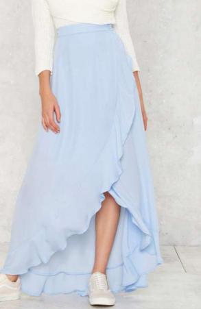 Leigh ruffled maxi dress