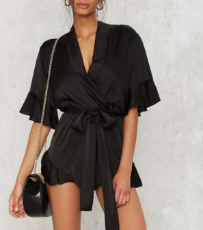 Mad World Satin Romper