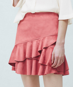Mango ruffled mini skirt