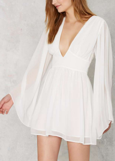 Nasty Gal Perfect Storm Plunging Mini Dress