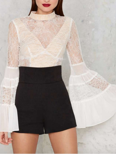 Nasty Gal Victorian Secret Crop Top