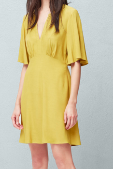 Mango flared sleeve dress