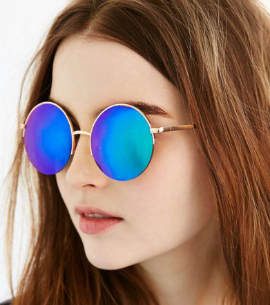 UO Famous Metal Round Sunglasses