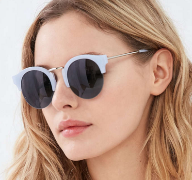 Galaxy Half-Frame Sunglasses