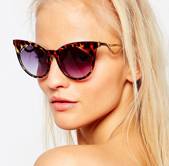 ASOS Cat Eye Sunglasses With Square Corner Lens