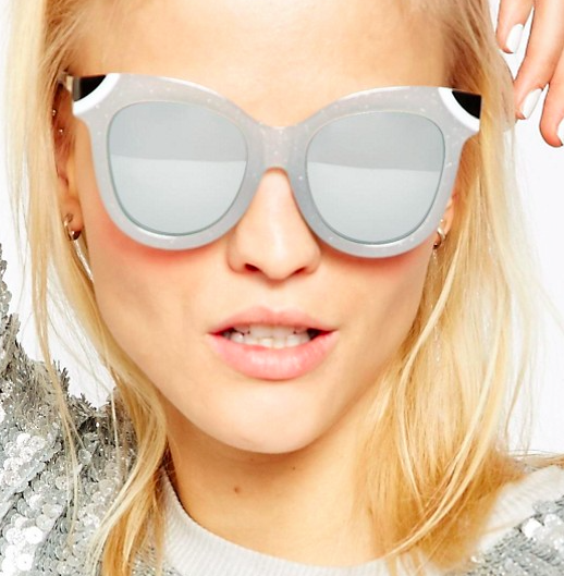 ASOS Cat Eye Sunglasses With Metal Corner Detail