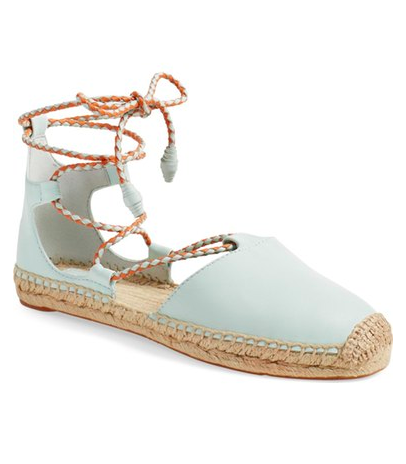 Tory Burch 'Positano' Lace-Up Espadrille Flat