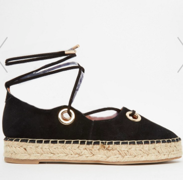 River Island Suede Lace Up Espadrille