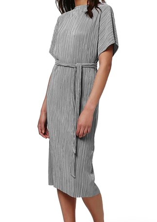 Topshop Pleated Batwing Midi Dress
