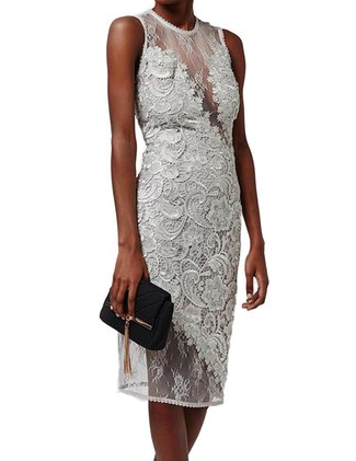 Topshop Lace Midi Sheath Dress