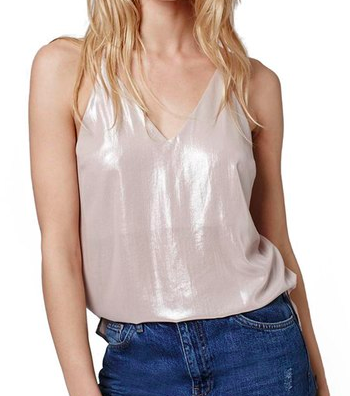 Topshop Strappy Metallic Camisole