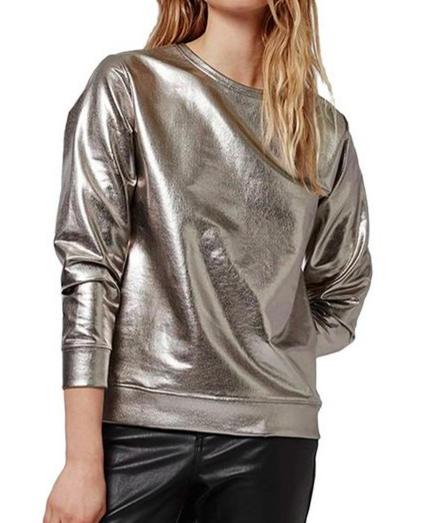 Topshop Foiled Crewneck Sweatshirt