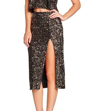Dress the Population 'Alessandra' Sequin Midi Skirt