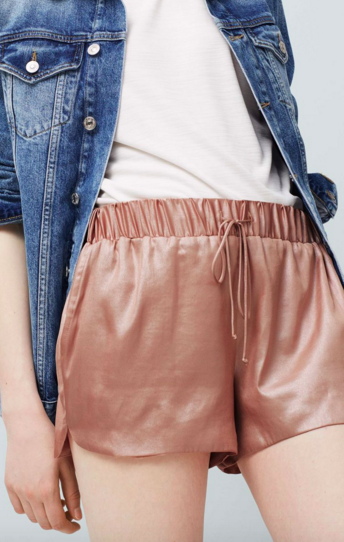 MANGO METALLIC SHORTS