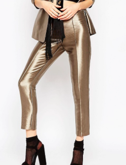 ASOS Super Skinny Pant in Metallic Co-ord