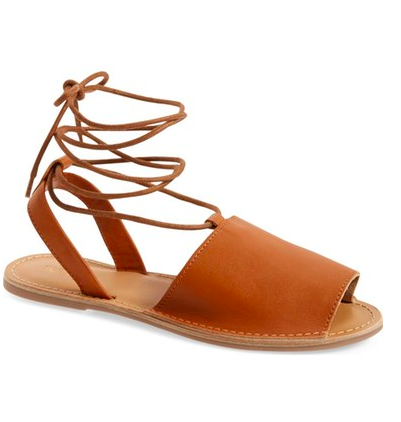 Topshop 'Holly' Lace-Up Sandal