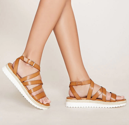 FOREVER 21 Faux Leather Espadrille Sandals