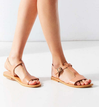 Pepper Leather T-Strap Sandal