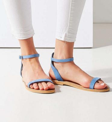 Hazel Suede Thin Strap Sandal