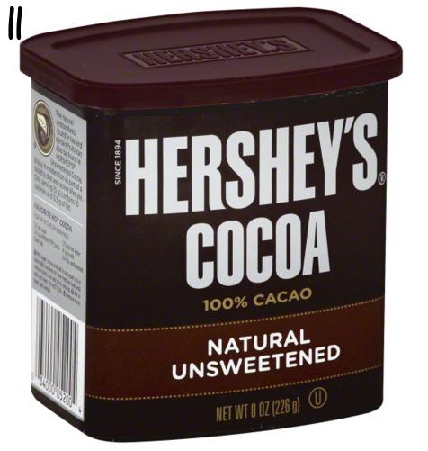Hershey's unsweetened cocoa powder
