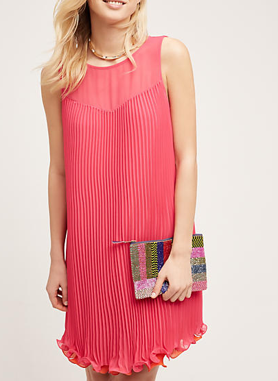 Anthropologie Layered Pleat Swing Dress