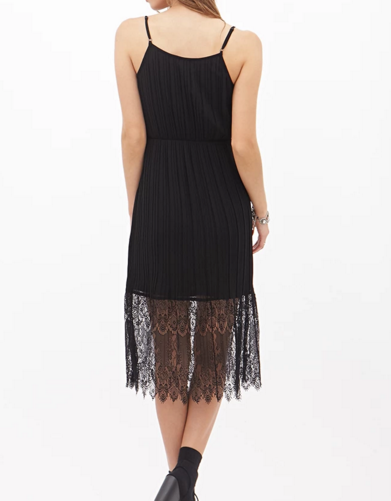 Forever 21 pleated lace cami dress