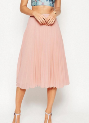 ASOS MIDI PLEATED SKIRT