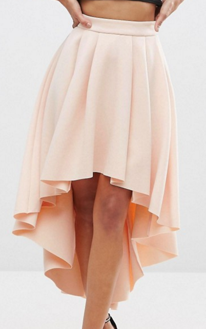 ASOS Premium Scuba High Low Prom Skirt