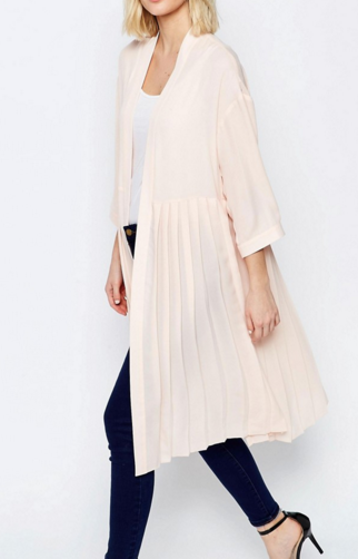 ASOS Soft Pleated Duster