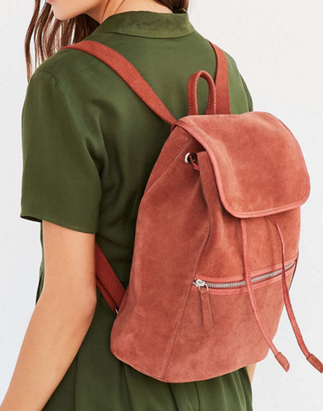 Ecote Suede Zip Backpack
