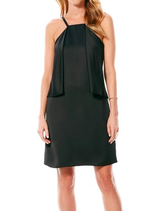 Laundry by Shelli Segal Satin Popover Panel Shift Dress