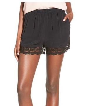 Leith lace trim shorts