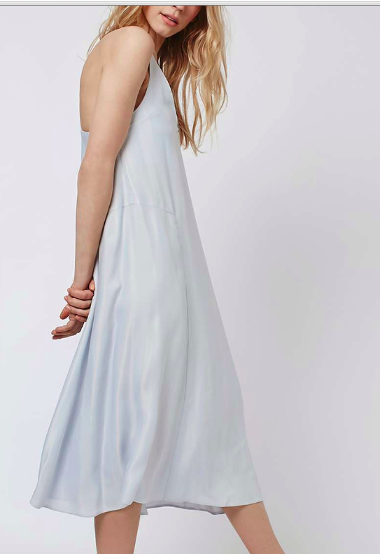 Topshop satin midi slip dress