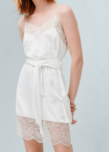 Mango lace slip dress