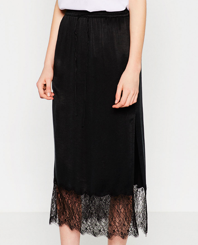 Zara lace trim skirt