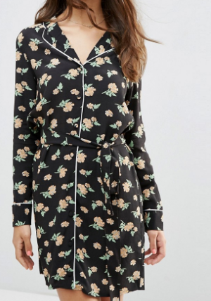 ASOS Pajama Style Dress in Floral Print