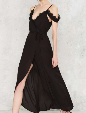 Nasty Gal Let It V Wrap Dress