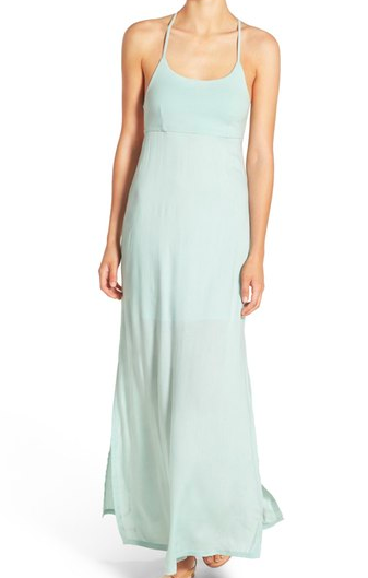 RVCA 'Kambria' Strappy Maxi Dress