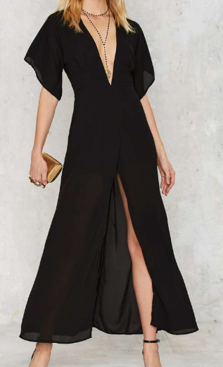 Gown Your Sorrows V-Neck Dress