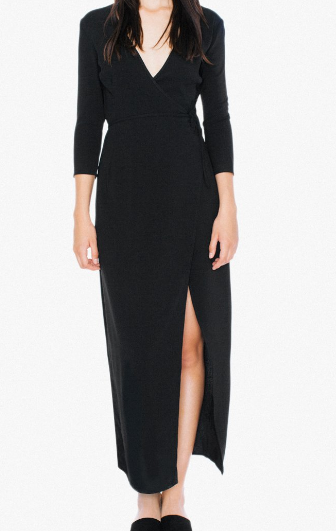 American Apparel Crepe Julliard Wrap Dress
