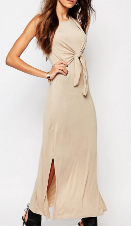 Daisy Street Maxi Tank Dress With Tie Front