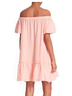 Rebecca Taylor Off the Shoulder Cotton Swing Dress
