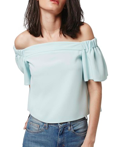 Topshop 'Livi' Off the Shoulder Top